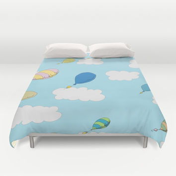 oh the places you'll go pattern...  Duvet Cover by Studiomarshallarts