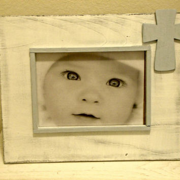 Large Baptism/Commitment/Dedication Picture Frame with Cross