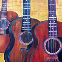 ORIGINAL PAINTING, GUITARS, Musical Art, Musical Instruments, Guitar Painting, Abstract Painting
