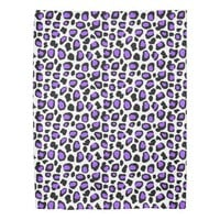 Purple Leopard Spots Animal Print Pattern Girls Duvet Cover