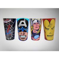 Marvel Glitter Pint Glass 4-Pack Set