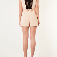 Petite Lace Back Playsuit - New In This Week - New In - Topshop USA