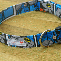 Large/XL Old School Batman Dog Collar