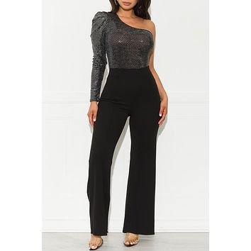 My Time To Shine Jumpsuit Black Silver
