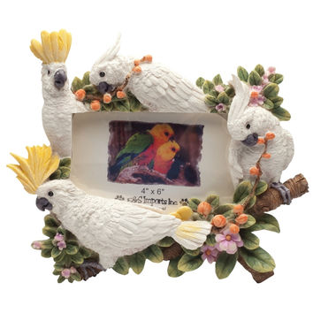 Cockatoos on Branches Large Picture Frame