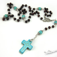 Rosewood Rosary first communion gift confirmation rosary Baptism Gift catholic rosary boys rosaries rosary necklace catholic gift for him