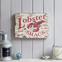 Custom Wall Art . Lobster Shack Wall Hanging