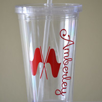 Color Guard Flags with Name - Custom Tumbler with Straw