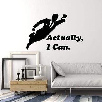 Vinyl Wall Decal Super Office Worker Quote Work Space Art Decor Stickers Mural (ig5273)