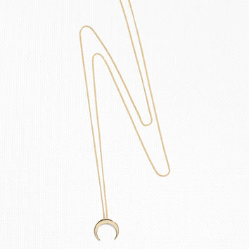 Crescent Moon Necklace - Gold - Necklaces - & Other Stories GB