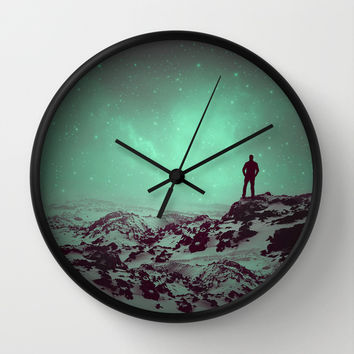Lost the Moon While Counting Stars II Wall Clock by Soaring Anchor Designs