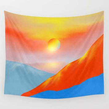 Minimal mountains 03 Wall Tapestry by vivianagonzlez