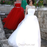 Cap Sleeved Cut Out Neckline Formal Prom Gown By Sherri Hill 11177