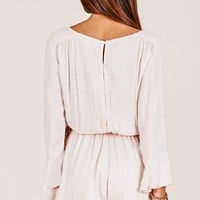 Sunday Breeze playsuit in mocha Produced By SHOWPO