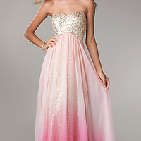 Strapless Sequin Ombre Gown by Jump 340