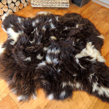 Wonderful Luxury  Genuine Natural - Rare British Jacob Side by Side Double Sheepskin Rug Soft  Sink'n Wool - ETD - 5