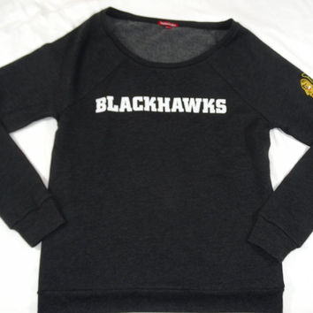 Chicago Blackhawks Mitchell & Ness Pullover Sweatshirt Womens Size M