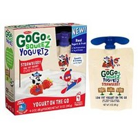 GoGo SqueeZ Yogurt On The Go Strawberry 4ct - 3oz