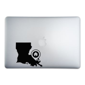 New Orleans Louisiana Home Sticker for MacBooks and Apple Devices