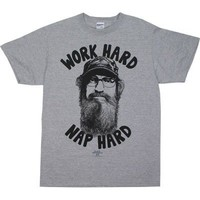 Duck Dynasty Work Hard Nap Hard Mens Tee