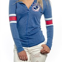 New York Giants Womens Vintage Raglan Top | SportyThreads.com