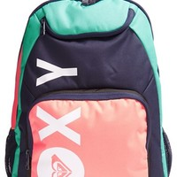 Girl's Roxy 'Shadow Swell' Colorblock Backpack