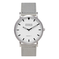 Buy SHORE Projects Poole W002S006S Silver Plated Canvas Strap Unisex Watch | John Lewis