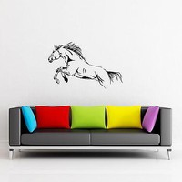 Wall Stickers Horse Animal Mustang for Living Room  Unique Gift z1289