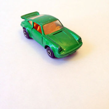 Matchbox Green Porsche Turbo // Vintage 1978 Green Matchbox Super Fast Porsche Turbo // Matchbox Porsche // Matchbox Toy Car // Porsche Toy