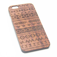 Native Aztec Wood Engraved iPhone 6s Case iPhone 6 Case iPhone 6s 6 Plus Cover Natural Wooden iPhone 5s 5 Case Samsung Galaxy S6 edge S5 Case D102