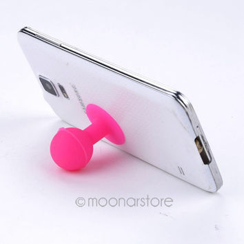 2015 New Silicone Cute Suction Sucker Cup Holder Stand For Universal Phone Phone Acessories XMPJ487#S3