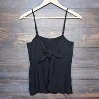 final sale - foxy little front tie crop top (more colors)