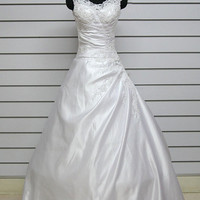 Sheath/ Column Off-the-shoulder Cathedral Train Wedding Dress