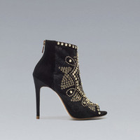 STUDDED ANKLE BOOT - Shoes - Woman - ZARA United States