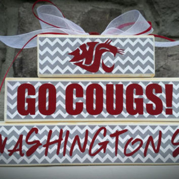 Custom College and Pro Sports Teams Washington State Cougars Fan Stacker(WSU)