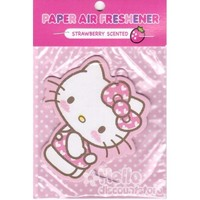 Sanrio Hello Kitty Paper Car Air Freshener : Strawberry Scented #3 $4.25