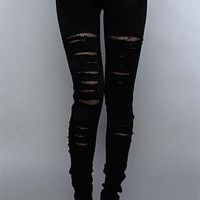 The Fishnet Underlay Jean in Black : Tripp NYC : Karmaloop.com - Global Concrete Culture