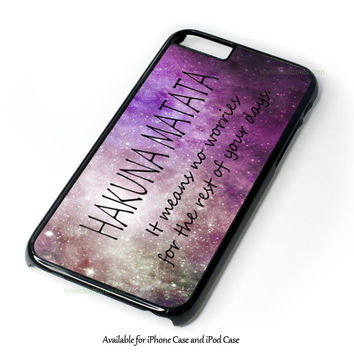 Hakuna Matata Lion King Inspired Infinity Symbol Sign Design for iPhone and iPod Touch Case