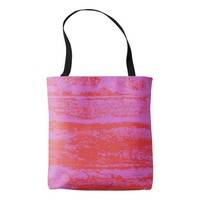 pink-red tote bag