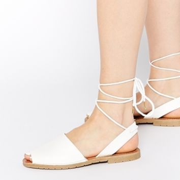Call It Spring Collegiglioni Ankle Tie Flat Sandals