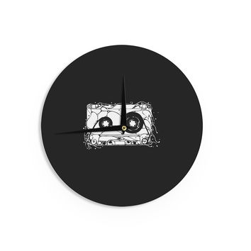 "BarmalisiRTB ""Cassette"" Black White Wall Clock"