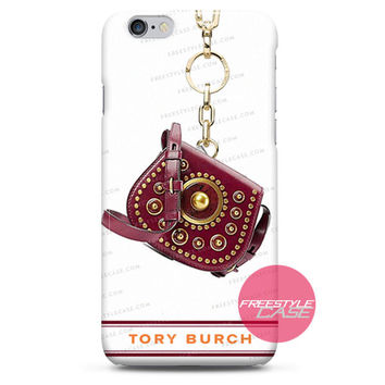 Tory Burch Embellished Small Saddlebag Red Agate iPhone Case 3, 4, 5, 6 Cover