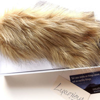Faux Fox Fur Sleep Mask, Brown Furry Eye Shade, Luxury Soft Fluffy Furry Blindfold for Her, Women Girls Teens, Cotton or Satin, Gift Box