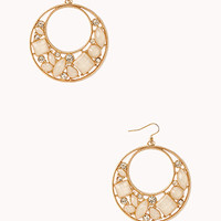 FOREVER 21 Opulent Cutout Drop Earrings