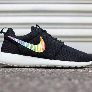 Custom Paint Drips Nike Roshe Run Fabric Cute Pattern Men's Women's FAST SHIPPING! Great Gift, Birthday Present, 2015