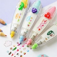 Korea Creative Correction Tape Sticker Cute Cartoon Book Decorative Student Supply Novelty  Toys 11*2.7cm