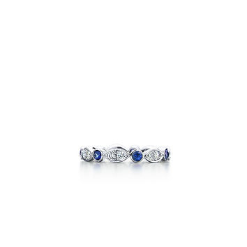 Tiffany & Co. -  Tiffany Swing ring of sapphires and diamonds in platinum.