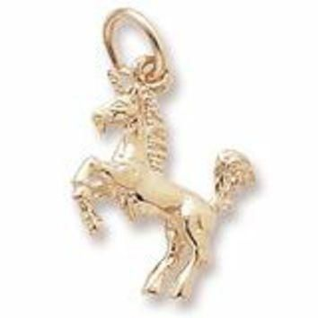 Unicorn Charm in Yellow Gold Plated