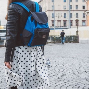 City Backpack 'Coock' | Blue-Black by VELOTTON