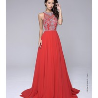 Preorder - Nina Canacci 3101 Red Sleeveless Embellished Sexy Long Dress 2016 Prom Dresses